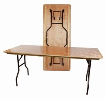 Astro Rectangle Banqueting Table - Wood And Steel - Folding