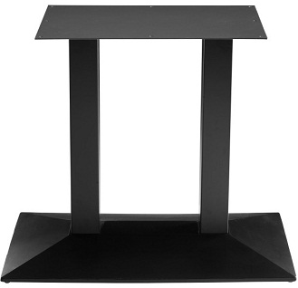 Aksam Large Double Pedestal Kitchen Dining Table Base Black Cast Iron