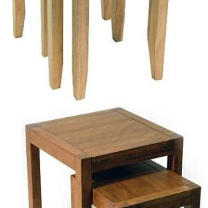 Tason Nest Of 2 Tables - Solid Wood Beech Or Walnut