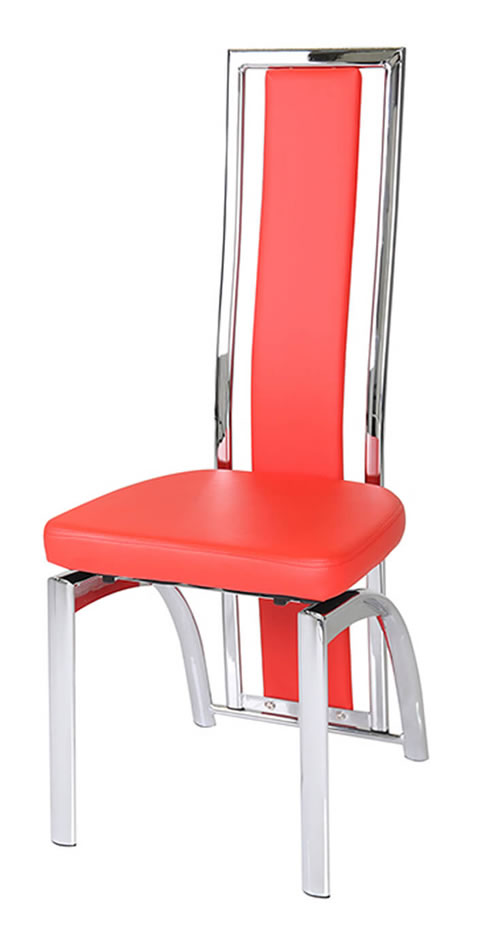 Arianne High Back Stylish Kitchen Dining Chairs Padded Seat And Back