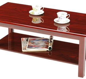 Aboney Mahogony Coffee Table 2 Shelves