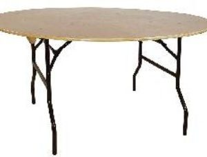 Astro Round Banqueting Table - Wood And Steel - Folding
