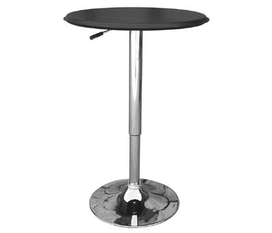 Cumbria Tall Kitchen Dining Table Height Adjustable Black Top