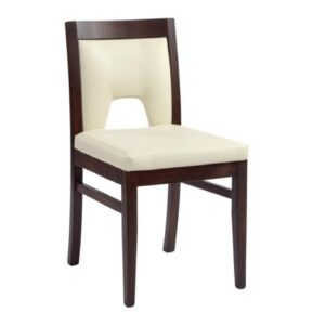 Shaked Dining Chair - Solid Beech Wood With Faux Leather - Fully Assembled