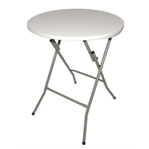 Halle Foldaway Round Table With Steel Frame 600 Mm