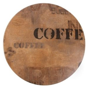 Castro Round Wood Table Top - Coffee Design Large 800