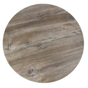Ashley Round Vintage Pine Table Top Effect 600Mm