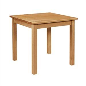 Basanova Square Wood Table - Oak