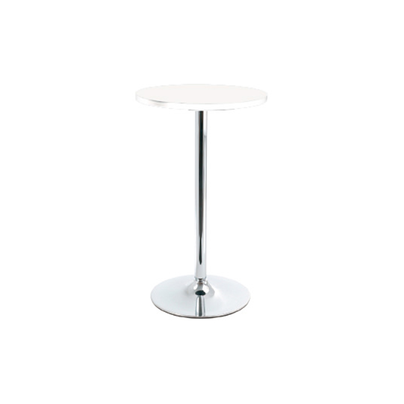 Bonetti Wood Poseur Tall Round Bar Table - White