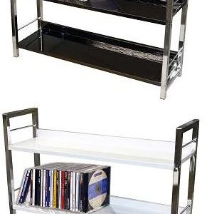 Brook Chrome Bookcase - Silver/Black