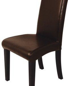 Dean Dark Brown Leather Upholstered Banquet Chair