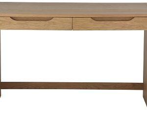 Rhet Home Office Desk 2 Drawers Oak Veneer