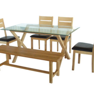Cadazza Glass Top Dining Table