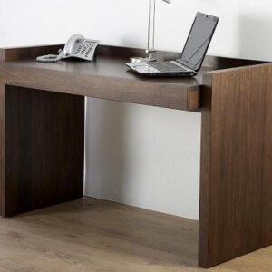 Highland Home Walnut Office Desk One Long Drawer