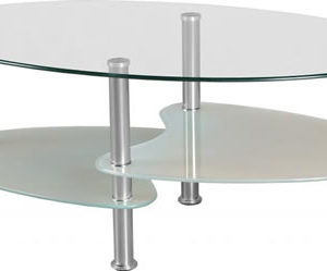 Sara 2 Tier Clear Glass Coffee Table Chrome Frame