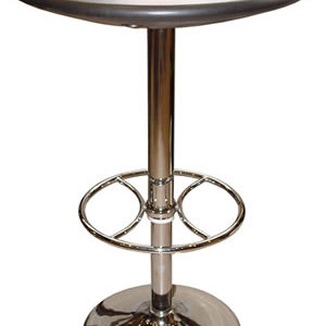 Carboni Tall Adjustable Bar Poseur Kitchen Table Black Top