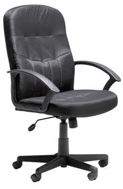 Alier High Back Black Leather Executive Office Chairs With Back Support