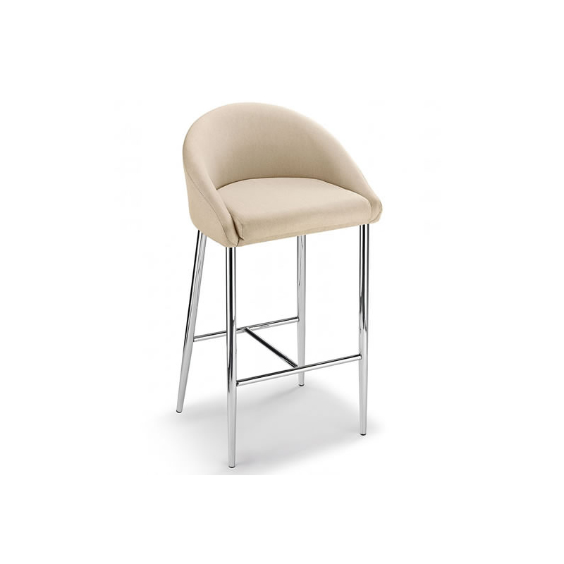 Awesome Cayfon Fabric Bar Stool Chrome Fixed Height 4 Colours Padded Dailytribune Chair Design For Home Dailytribuneorg