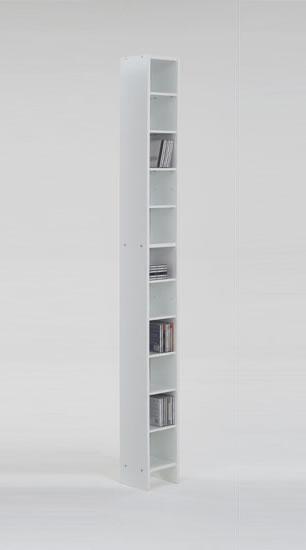Dalia Cd Dvd Wooden Storage Tower Unit - White