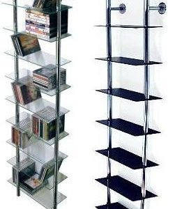 Max Glass And Metal Storage Shelves - Wall Mounted