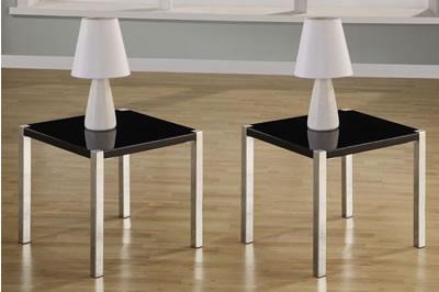 Trisma Black Gloss Lamp Table