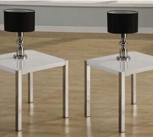 Trisma White Lamp Table