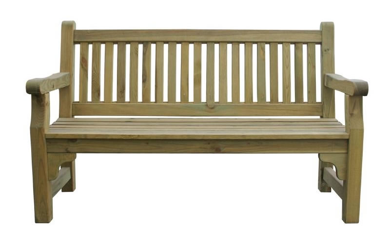 Raysoni Large 3 Seater Outdoor Softwood Garden Bench