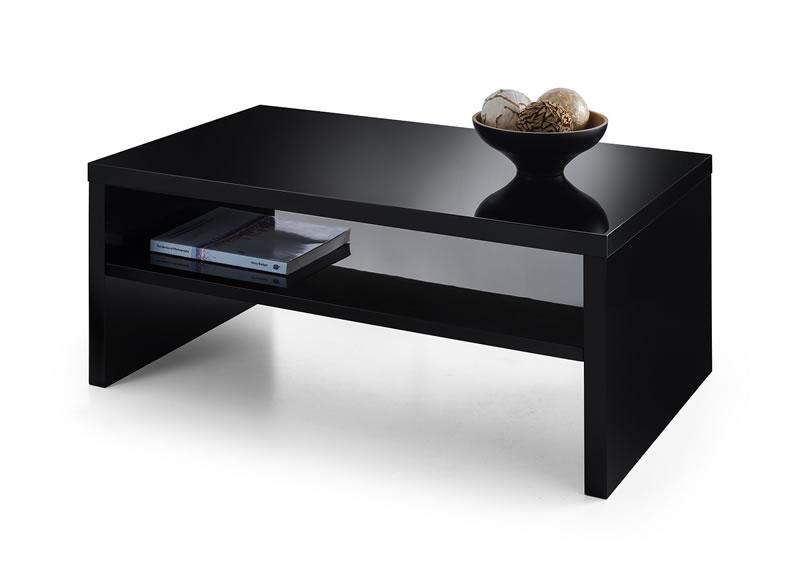 Haley High Gloss Coffee Table - Black