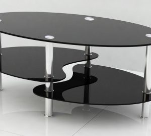 Stila Coffee Table - Black Tempered Glass