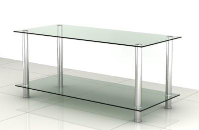 Hester Coffee Table - Glass 2 Shelves