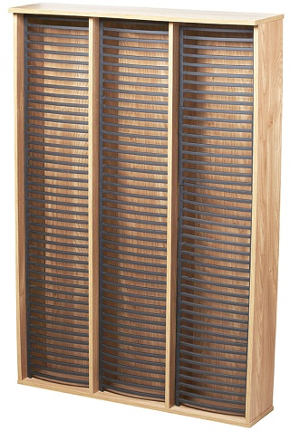 Colombo DVD Storage Unit - Oak Finish