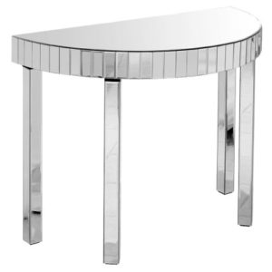 Mark Console Table - Semi Circle - Mirrored Glass