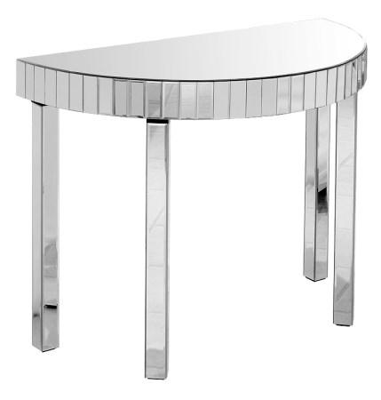 Mark Console Table - Semi Circle - Mirrored Glass