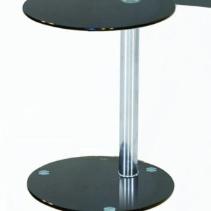Converse Glass Lamp Table Black Or Clear Glass