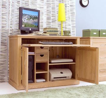Ben Home Office Solid Oak Desk - Pre Assembled