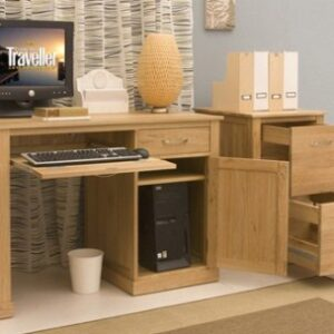 Beth Home Office Desk Solid Oak - Fully Assembled
