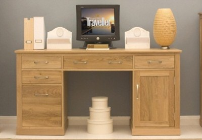 Sunny Solid Oak Home Office Desk Fully Assembled