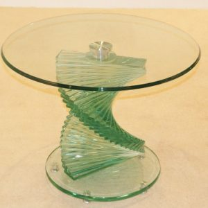 Corona Clear Glass Lamp Twisted Table Modern Design