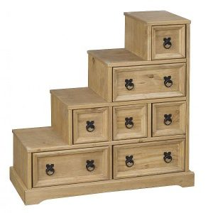 Carrie DVD Staircase Storage - Pine