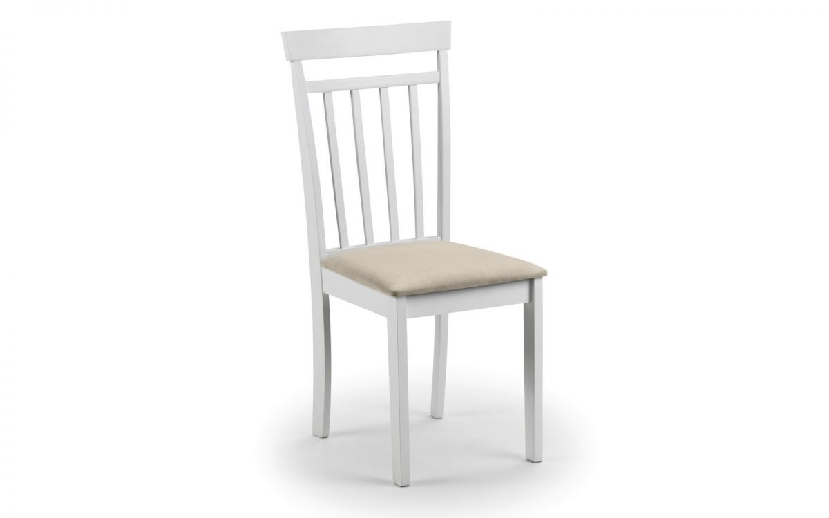 Corel Wooden White Dining Chair - Fully Assembled
