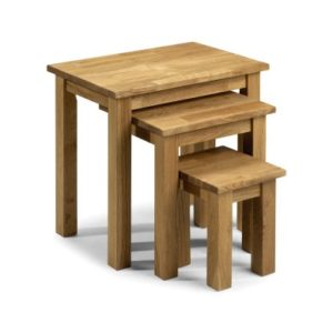 Cox Solid Oak Nest Of 3 Tables