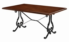 Mansta Coffee Table Black Cast Iron Frame Scroll Design Contract Quality