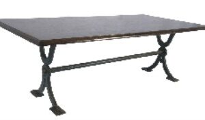 Mentar Large Quality Coffee Table - Cast Iron Base