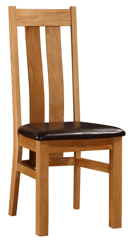 Cumber Solid Oak Dining Kitchen Chair With Padded Seat