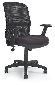 Dakota Black Mesh Backrest Manager Chair