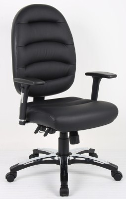Deel Leather Swivel Office Chair