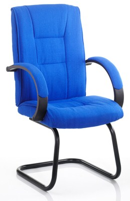 Choc Blue Office Chair Cantilever