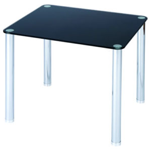 Lotus End / Coffee Table - Glass And Chrome