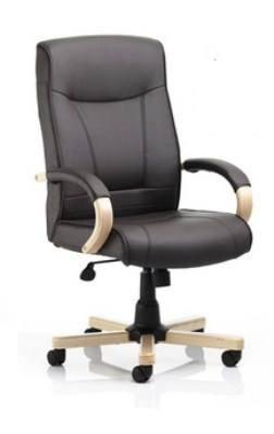 Fins Leather/Microfiber Swivel Adjustable Padded Office Chair