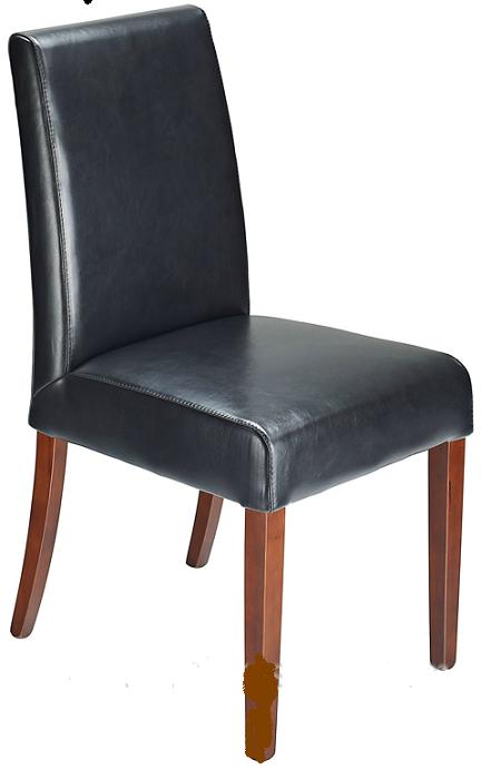 Florence Bonded Leather Dining Kitchen Chair Black Padded Seat And Back Fully Assembled